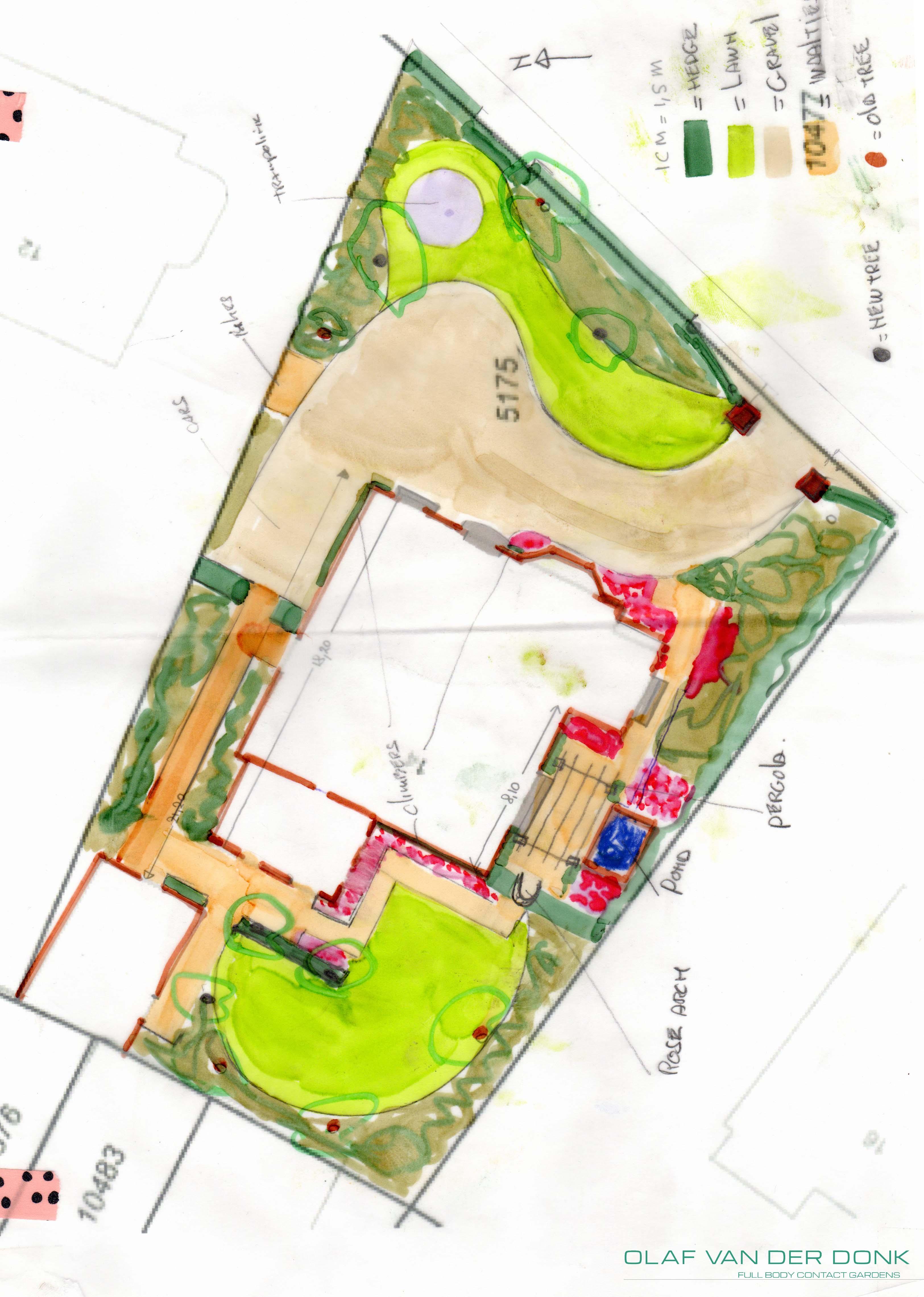 Visualisatie tuin bloemendaal voor de beleving van groen for Tuinontwerp heemstede