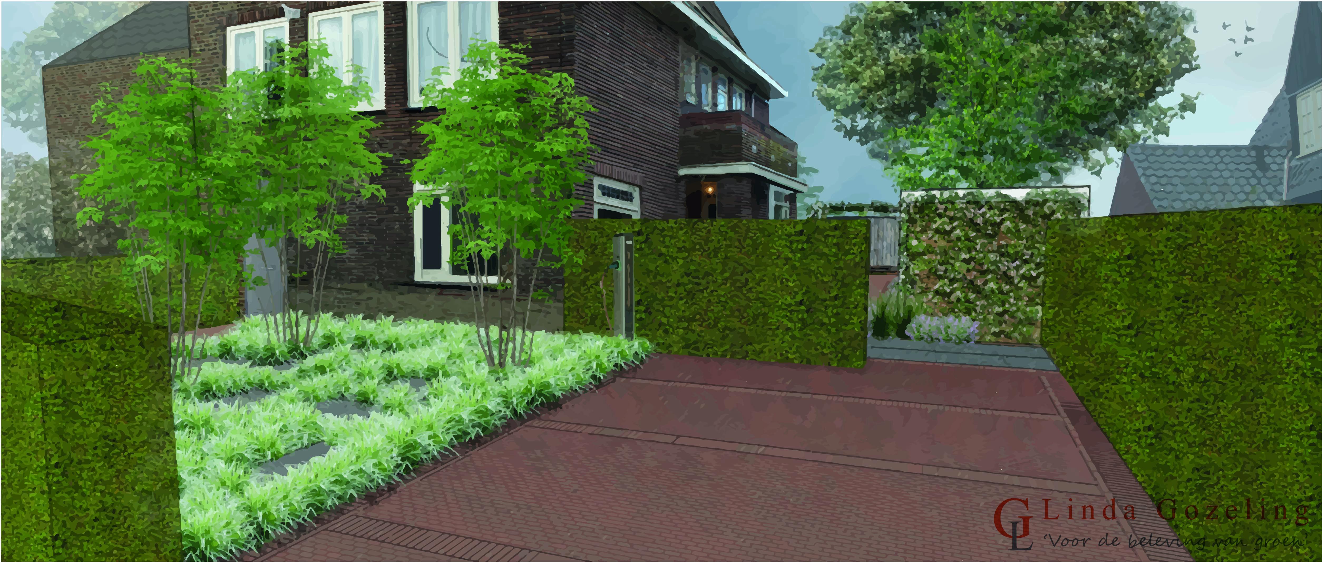 Visualisatie tuin overveen voor de beleving van groen for Tuinontwerp heemstede
